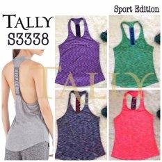 Toko Kaos 3338 Singlet Sport Wanita Santai Yoga Tally Hijau Metro Online