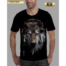 Kaos 3D Wolf New