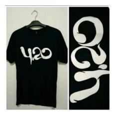 Kaos 4:20, 4 20, Tshirt, Baju, Kaos Distro, Reggae,4.20 , T-Shirt, Pakaian Pria, Baju Pria, Kaos Cowok, Hitam