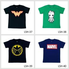 Spesifikasi Kaos Anak Laki Laki Karakter Satu Set Isi Empat Online