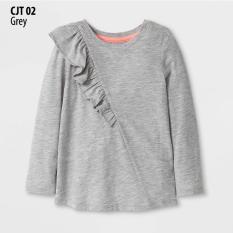 Kaos Anak Perempuan Lengan Panjang Branded