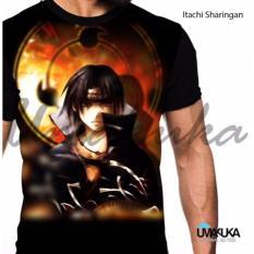 Diskon Kaos Baju Distro Anime Fullprint Premium Naruto Itachi Sharingan Branded