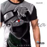 Jual Kaos Baju Distro Anime Naruto Fullprint Premium Kakashi Bw T Shirt