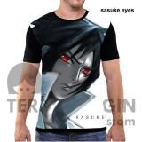 Beli Kaos Baju Distro Anime Naruto Fullprint Premium Sasuke Eyes Cicilan