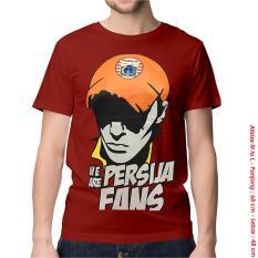 Spesifikasi Kaos Baju Distro Bola Indonesia Persija Fans Red Combed Paling Bagus