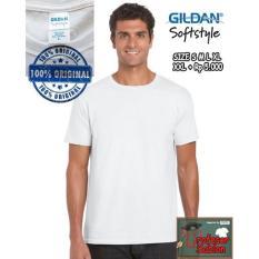 Kaos Baju Gildan Softstyle White 63000 Putih Original GROSIR XXL - 8J8hug