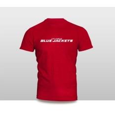 Kaos Baju Pakaian HOCKEY COLUMBUS BLUE JACKETS LOGO ( WORDMARK 2 )