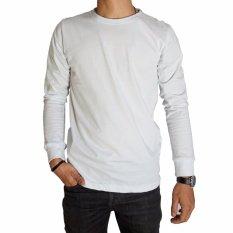 Diskon Besarkaos Baju Polos Putih Premium Lengan Panjang Naga Clothing