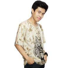 Kaos Bali Batik, Kaos Santai, Baju Tidur, Atasan Pria (KPT001) Batik Alhadi
