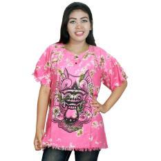 Kaos Bali Batik, Kaos Santai, Baju Tidur, Atasan Wanita (KPT001-04) Batik Alhadi
