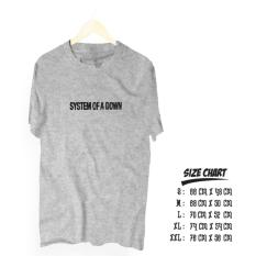 Kaos band metal system of a down cotton combed 30s
