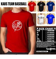 Kaos Baseball New York Yankees Logo 2 Multi Murah Di Indonesia