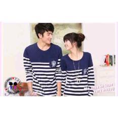 Grosir Baju Pasangan Kapel - Kaos Couple Lengan Panjang - Cp Sailor Lp Navy