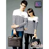Review Terbaik Kaos Couple Lp Salur Kacamata Pita White