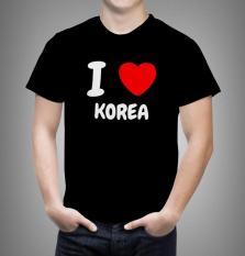 Kaos Cowok I LOVE Korea Big Size Uk XL - 4XL ( 23 Warna )