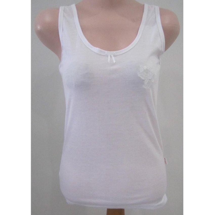 Pakaian Kaos (Kaus) Dalam   Singlet   Kutang   Tanktop Wanita Perempuan  katun Nathalie 1d5efac120