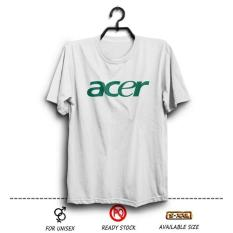 Kaos Distro ACER Logo  Laptop Notebook  Putih