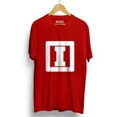 Spesifikasi Kaos Distro Alphabet I T Shirt Merah Baru