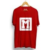 Berapa Harga Kaos Distro Alphabet M Merah Lengan Pendek Walexa Clothing Di Banten