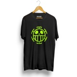Beli Kaos Distro Anime One T Shirt Hitam Neon Yellow Cicilan