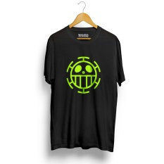 Spesifikasi Kaos Distro Anime One T Shirt Hitam Neon Yellow Walexa Clothing Terbaru