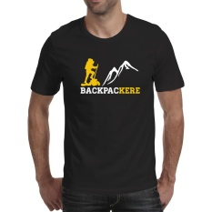 Jual Kaos Distro Backpackere Hiker T Shirt Black Murah Di Banten