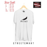Jual Kaos Distro Band Noah White Cotton Combed 30 S