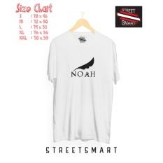 Beli Kaos Distro Band Noah White Cotton Combed 30 S Pake Kartu Kredit