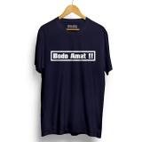Spesifikasi Kaos Distro Bodo Amat Navy T Shirt Lengan Pendek Beserta Harganya