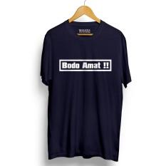 Review Kaos Distro Bodo Amat Navy T Shirt Lengan Pendek Di Banten
