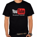 Promo Kaos Distro Casual Limited Youtube Now Hitam