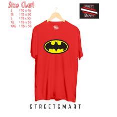 Jual Kaos Distro Cotton Combed 30S Batman Merah Branded Original