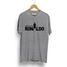 Jual Kaos Distro Cristiano Ronaldo Cr7 T Shirt Abu Misty Hitam Termurah