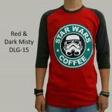 Jual Kaos Distro Dewasa Pria Lengan Raglan 3 4 Motif Star Wars Coffe Dlg 15 Oem Original