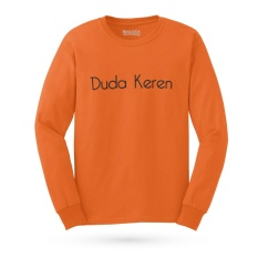 Kaos Distro DUREN - DUDA KEREN T-Shirt Panjang - Orange