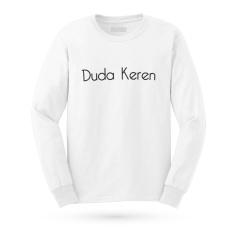 Kaos Distro DUREN - DUDA KEREN T-Shirt Panjang - White