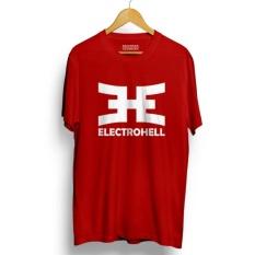 Kaos Distro ELECTROHELL T-Shirt - Red Premium