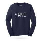 Beli Kaos Distro Fake T Shirt Lengan Panjang Navy Walexa Clothing Dengan Harga Terjangkau