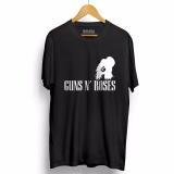 Jual Kaos Distro Gun N Roses T Shirt Hitam Murah Di Banten