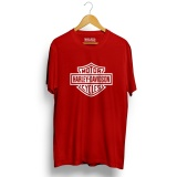 Spek Kaos Distro Harley Davidson T Shirt Merah Walexa Clothing