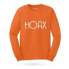 Kaos Distro HOAX T-Shirt Lengan Panjang - Orange