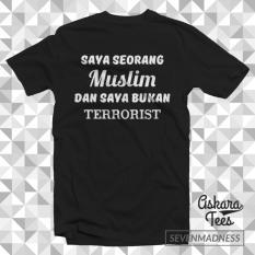 Promo Kaos Distro Pria Wanita Dakwah Islam Muslim Muslim Bukan Terrorist Di Dki Jakarta