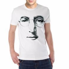 Harga Kaos Distro Kaos 3D Kaos Pria Kaos Musik Musisi The Beatles John Lennon 3 Putih Asli