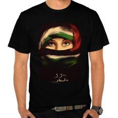 Spesifikasi Kaos Distro Kaos 3D Kaos Pria Palestine Freedom Hitam Yang Bagus