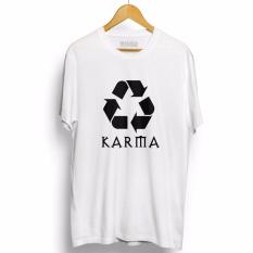 Kaos Distro KARMA - T-Shirt - Putih
