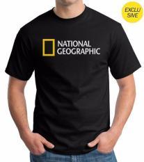 Kaos Distro National Geographic Logo Black Promo Beli 1 Gratis 1