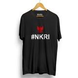 Beli Kaos Distro Nkri Negara Kesatuan Republik Indonesia T Shirt Hitam Merah Cicilan