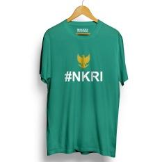 Kaos Distro NKRI Negara Kesatuan Republik Indonesia T-Shirt - Hijau Tosca Yellow