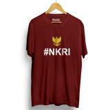 Jual Kaos Distro Nkri Negara Kesatuan Republik Indonesia T Shirt Maroon Yellow Branded