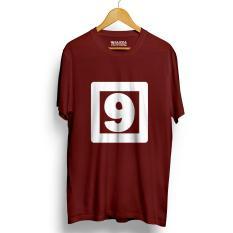 Jual Kaos Distro Nomor 9 Maroon T Shirt Lengan Pendek Original